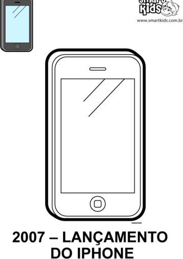 Mobile Phone Coloring Pages