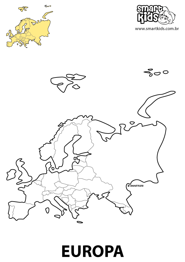 Continent Coloring Pages