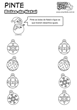 Pinte e Ligue as bolas de Natal