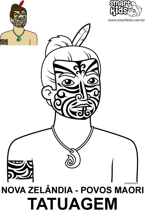 maori coloring pages for kids