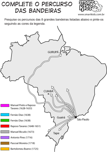 Bandeirantes Mapa do Percurso