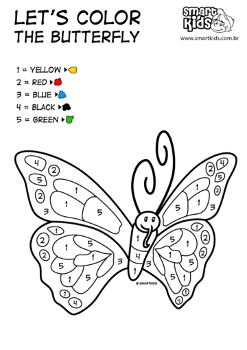 Let's Color the Butterfly