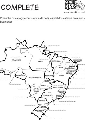 Mapas do Brasil Estados